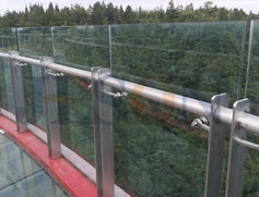 不锈钢玻璃桥梁护栏 JH-Q08