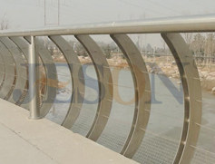 弯形不锈钢桥梁栏杆 JH-Q10