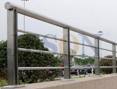 不锈钢穿管桥梁栏杆 JH-Q15