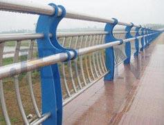 双扶手镀锌桥梁护栏 JH-Q18