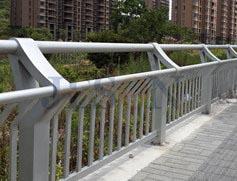 不锈钢双扶手桥梁栏杆 JH-Q12